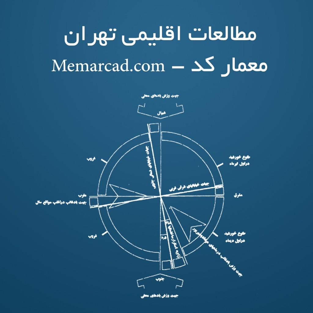 Memarcad.com - مطالعات اقلیمی تهران