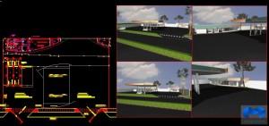 دانلود پلان پمپ بنزین به همراه تصاویر سه بعدی -(www.memarcad.com)