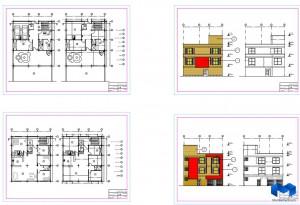 دانلود پلان مجتمع مسکونی به همراه جزئیات کامل - (www.memarcad.com)
