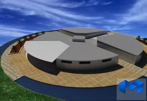 دانلود پلان مجتمع ورزشی به همراه تصاویر سه بعدی - (www.memarcad.com) (2)