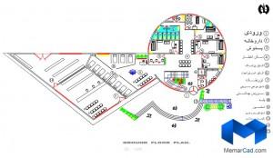 دانلود پلان درمانگاه به همراه تصاویر سه بعدی - (www.memarcad.com) (1)