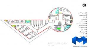 دانلود پلان درمانگاه به همراه تصاویر سه بعدی - (www.memarcad.com) (3)