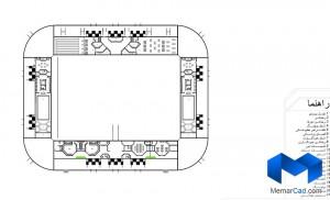 دانلود پلان استادیوم - کامل - (www.memarcad.com) (2)