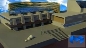 دانلود پلان مجموعه ورزشی به همراه تصاویر سه بعدی - (www.memarcad.com) (1)