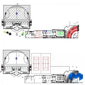 دانلود پلان مجموعه ورزشی به همراه تصاویر سه بعدی - (www.memarcad.com) (2)