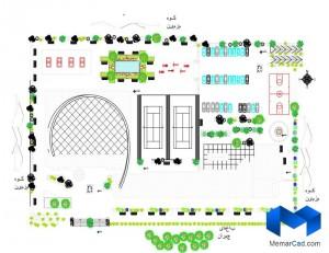 دانلود پلان مجموعه ورزشی به همراه تصاویر سه بعدی - (www.memarcad.com) (3)